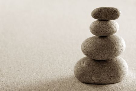 stacked stones: Four stacked stones