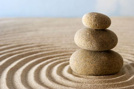 Zen pierres  Banque d'images