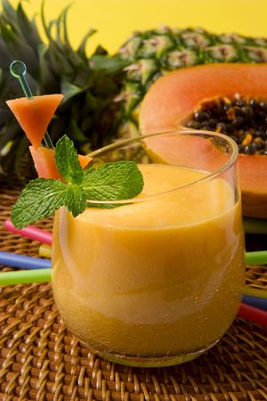 papaya: Papaya smoothie
