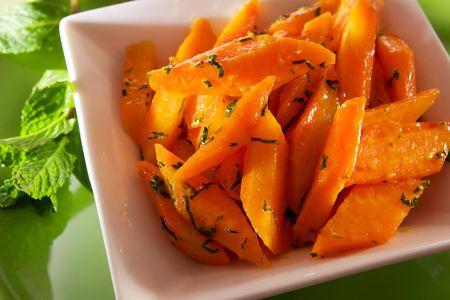 Orange glazed carrot 스톡 콘텐츠