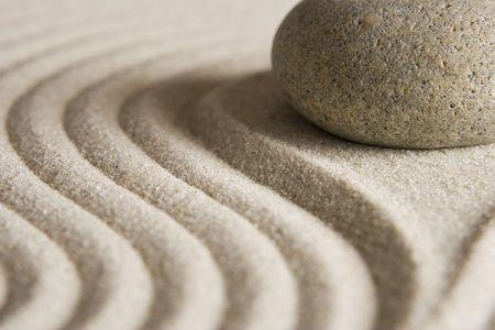 in low spirits: Zen stone