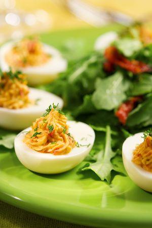 deviled eggs: Deviled eggs Stock Photo