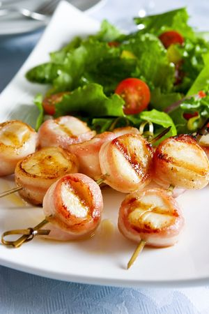 scallop: Bacon wrapped scallops