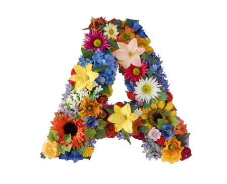 Flower Alphabet - A photo