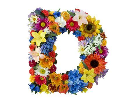 Flower Alphabet - D photo