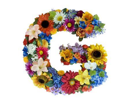 g alphabet: Flower Alphabet - G Stock Photo