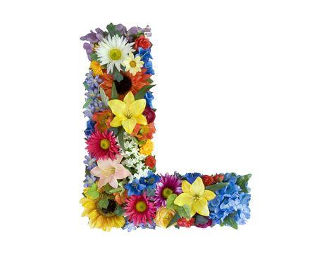 Flower Alphabet - L Stock Photo