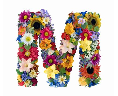 Flower Alphabet - M