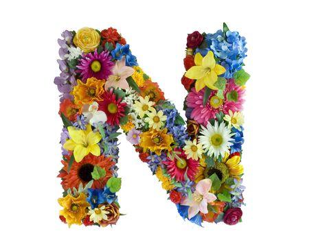 Flower Alphabet - N photo