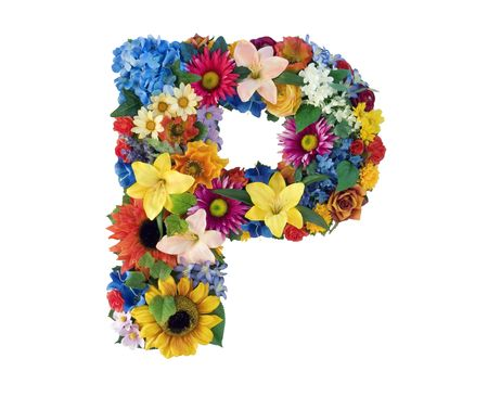 Flower Alphabet - P photo