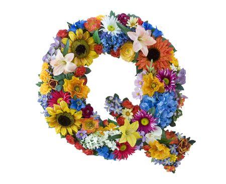 Flower Alphabet  - Q photo