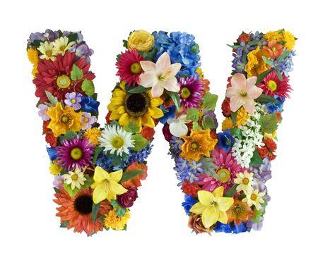 Flower Alphabet  - W photo