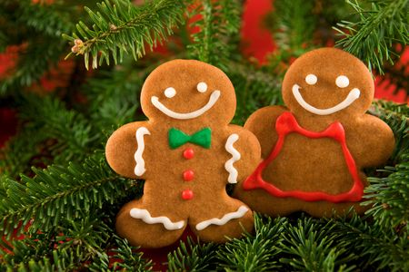gingerbread: Gingerbread man cookies  Stock Photo