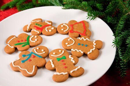 gingerbread man: Gingerbread man cookies  Stock Photo