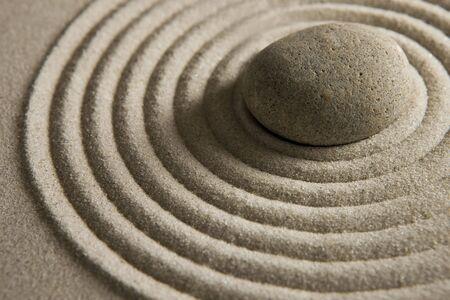 raked: Zen stone