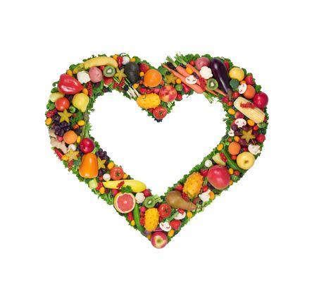 과일과 야채 심장 스톡 콘텐츠