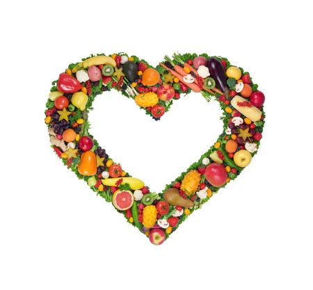 Fruit and vegetable heart  photo