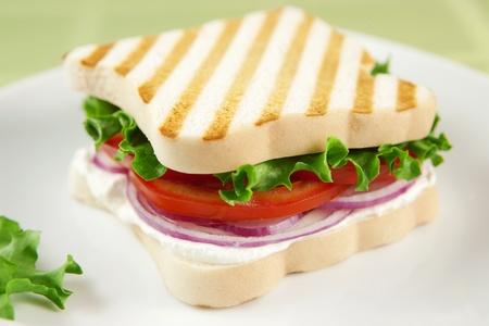 グルテン無料のベジタリアン サンドイッチ 写真素材