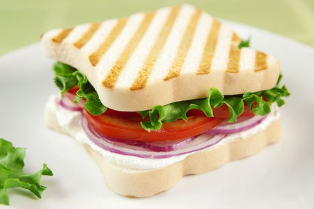 gluten free: Gluten free vegetarian sandwich Stock Photo