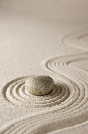 zen garden: Close-up of a miniature rock garden
