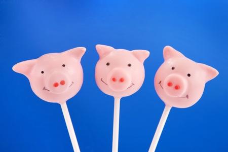 Pig cake pops Banque d'images