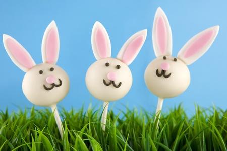 pops: Easter bunny cake pops