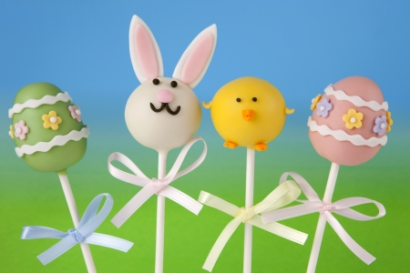 cake pops: Easter cake pops Stock Photo