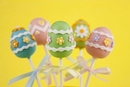 Easter egg cake pops photo
