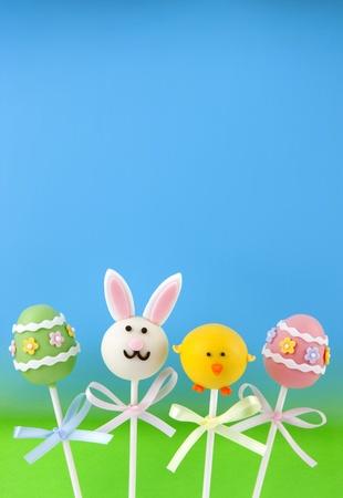 pops: Easter cake pops Stock Photo
