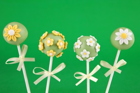 cake ball: Flowers cake pops