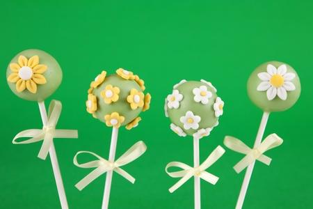 Flowers Pops Kuchen Standard-Bild