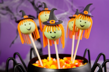 cake pops: Witch cake pops