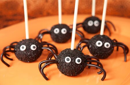 Spider cake pops Stock Photo - 15529172