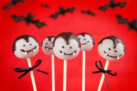 Vampire Cake Pops Stockfoto