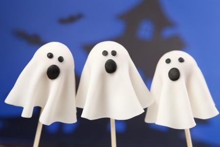 Ghost cake pops  Banque d'images