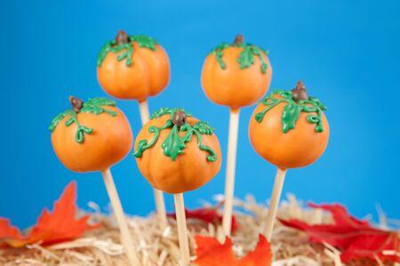 Pumpkin cake pops photo