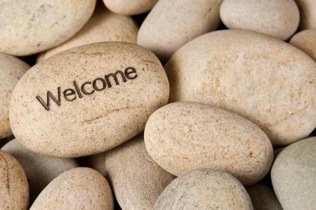 zen garden: Welcome stone