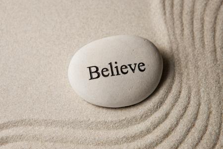 believe: Creer Foto de archivo