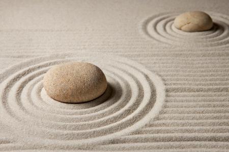 Mini zen garden  Standard-Bild
