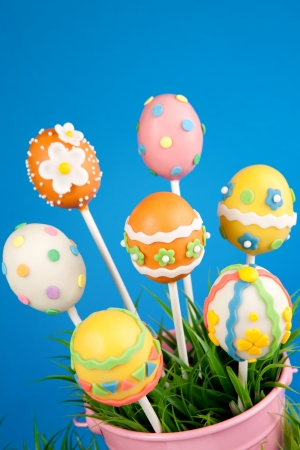 Easter egg cake pops photo
