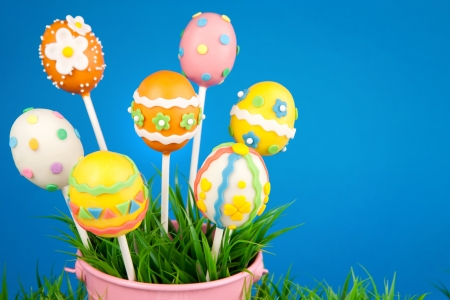 cake pops: Easter egg cake pops