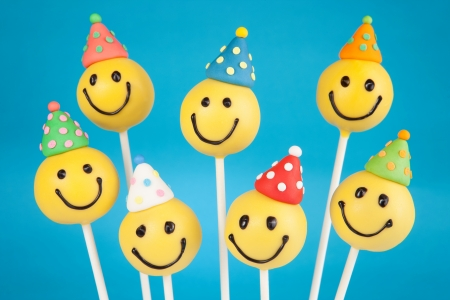 Birthday cake pops Stock Photo - 19622426