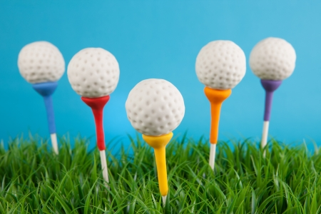 Golf ball cake pops Stock Photo - 19622427