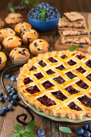 blueberry pie: Pastel de ar?ndano Foto de archivo