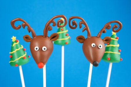 Reindeer cake pops Stock Photo - 21824553