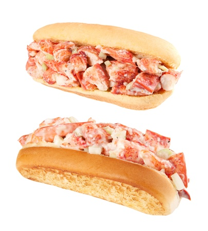 Lobster rolls isolated on white