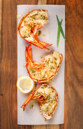 lobster tail: Grilled lobster tails