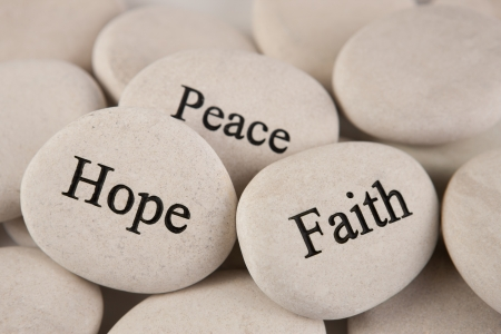 心に強く訴える石