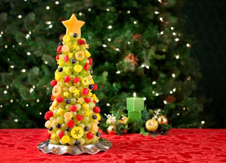 arboles frutales: �rbol frutal de Navidad Foto de archivo