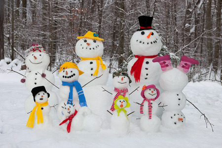 Snowman family Stock Photo - 36096834